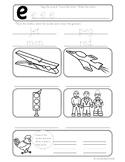 Short e CVC Vocabulary Worksheet