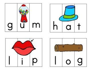 Short Vowel Word Puzzles