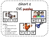 Short e, CVC puzzle pack