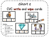 Short e, CVC write and wipe cards