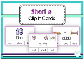 Short e Clip It Cards