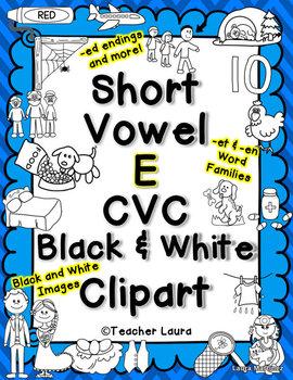 Short e Clipart - CVC words