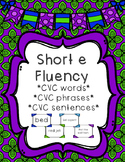Short e - Differentiated Sentence Fluency Cards