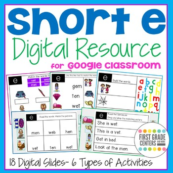 Short e Digital Resource for Google Classroom