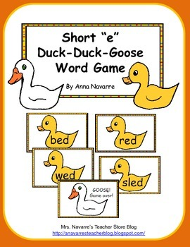 "Short ""e"" Duck-Duck-Goose Word Game"