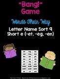 Short e Game (WTW Letter Name Sort 10 - et, -eg, -en)