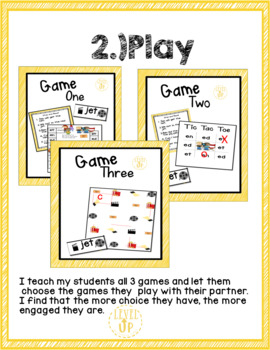 Short e Game and Word Sort