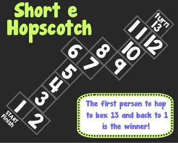 Short e Hopscotch Spelling Game
