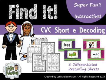 Short e - Interactive Find It Activity