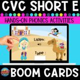 Short-e Listen and Type CVC Boom Cards