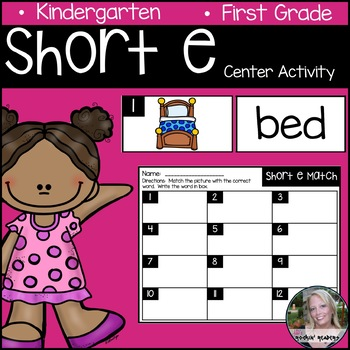 Short e Literacy Center Activity