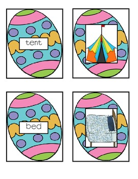 Short e Matching Game- Egg Theme