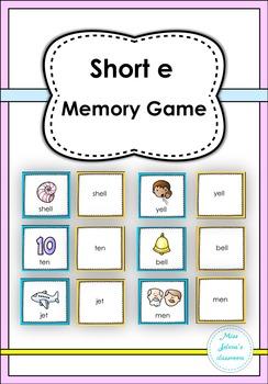 Short e Memory Game