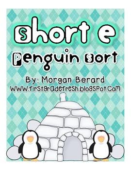 Short e Penguin Word Sort