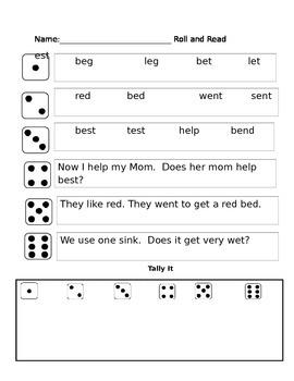 Short e Phonics Partner game