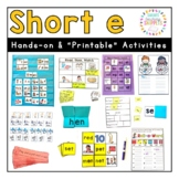 Short e Phonics Practice Pack