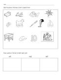 Short e Phonics/ Word Work Practice