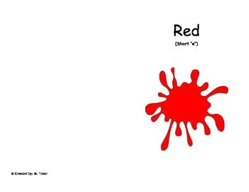 Phonics reader, Short 'e' Title: Red