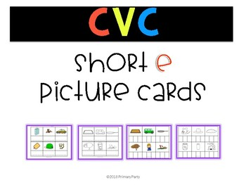 Short e Picture Cards