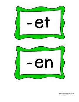 Short e Pocket Chart Sort