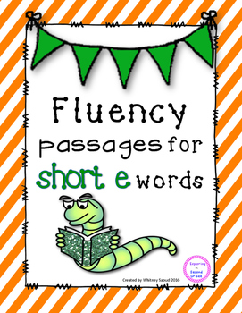 Short e Reading Fluency Pyramids