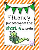 Short e Reading Fluency Pyramids