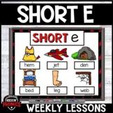 Short e Word Work Activities and Games Distance Learning