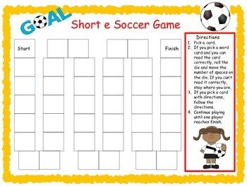 Short e Soccer Game