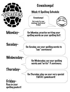 Short e Spelling Packet- Challenge words by Teenage Mutant Ninja Turtles!