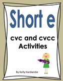 Short e Vowel Activities