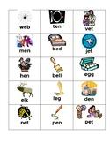 Short e Vowel Cards