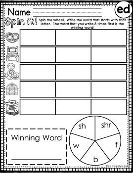Short e Word Families