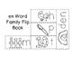 Short e Word Families Flip Books