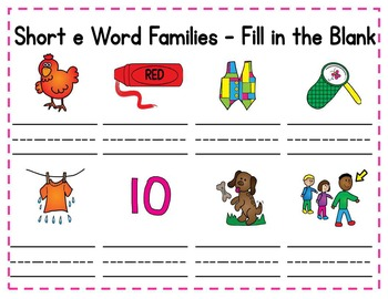 Short e Word Families - Promethean