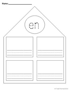 Short e Word Families Worksheets