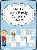 Short e Word Family Centers Bundle: CVC Bingo, Spinner, Sorting Cards & MORE!