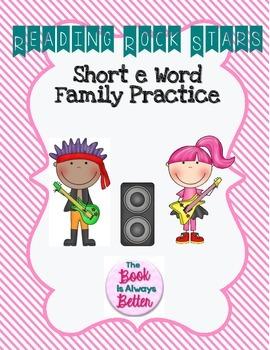 Short e Word Family Practice