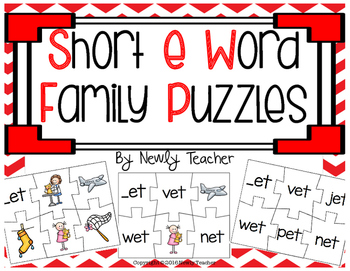 Short e Word Family Puzzles