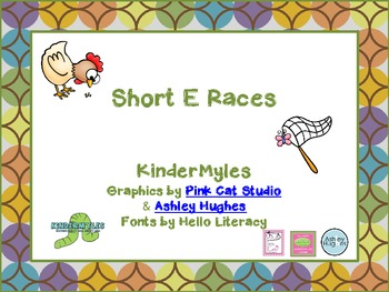 Short e Word Family Race
