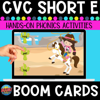 Short-e Word Family Roundup CVC Boom Cards