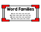 Short e Word Family Trains