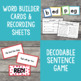 Short e Word Family Word Builder Cards