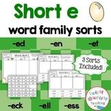 Short e Word Sorts