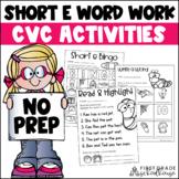 Short e Word Work