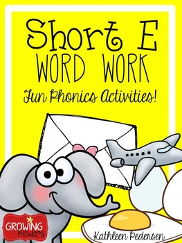 Short e Word Work Centers and Games