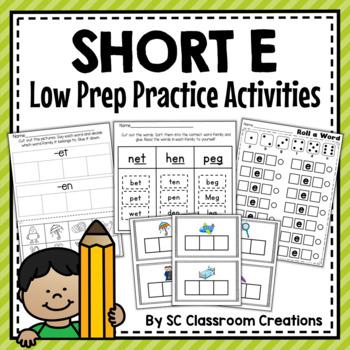 Short e Word Work Set