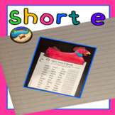 Short e Worksheet and Craft