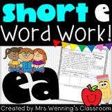 Short e (ea) Word Work Pack!