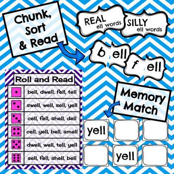 Short e - ell Word Family Activities