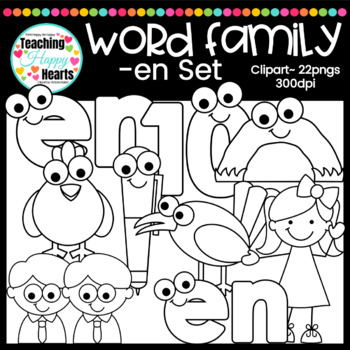 "Short e ""en"" Word Family Clipart"